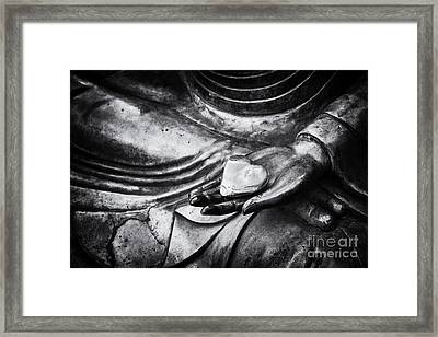 Buddha Heart Framed Print by Tim Gainey