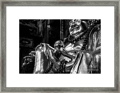 Buddha's Pearl Of Wisdom Framed Print by Dean Harte