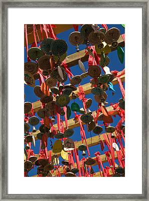 Buddhist Prayer Wishes Ema Hanging Framed Print