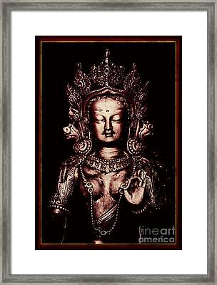 Buddhist Tara Deity Framed Print by Tim Gainey