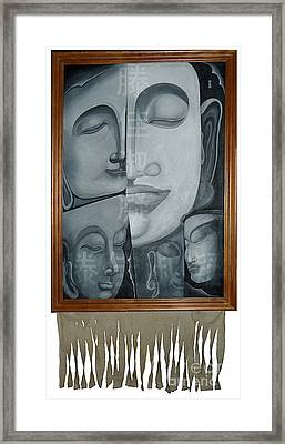 Buddish Facial Reactions Framed Print by Fei A