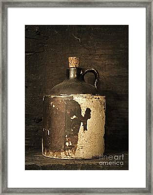 Buddy Bear's Little Brown Jug Framed Print