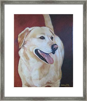 Framed Print featuring the painting Buddy by Sharon Schultz