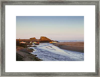 Bude Cornwall England Summerleaze Beach Framed Print by Colin and Linda McKie