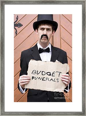 Budget Funerals Framed Print by Jorgo Photography - Wall Art Gallery