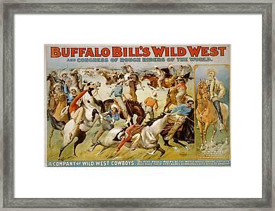 Buffalo Bills Wild West Framed Print