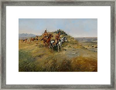 Buffalo Hunt Framed Print