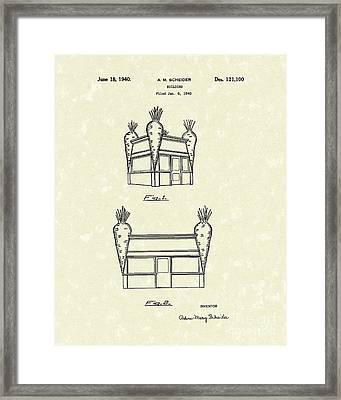 Building 1940 Patent Art Framed Print