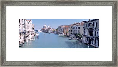 Buildings Along A Canal, Santa Maria Framed Print