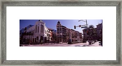 Buildings Along The Road, Rodeo Drive Framed Print by Panoramic Images