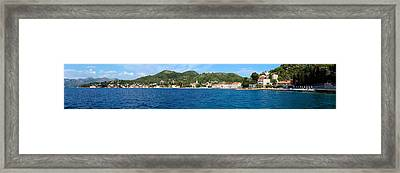 Buildings At The Waterfront, Adriatic Framed Print by Panoramic Images