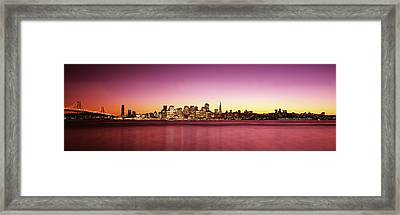 Buildings At The Waterfront, Bay Framed Print