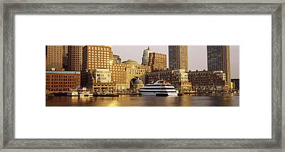 Buildings At The Waterfront, Boston Framed Print by Panoramic Images