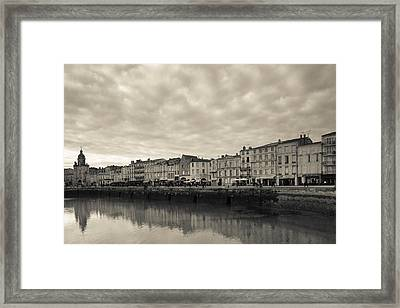 Buildings At The Waterfront, Old Port Framed Print