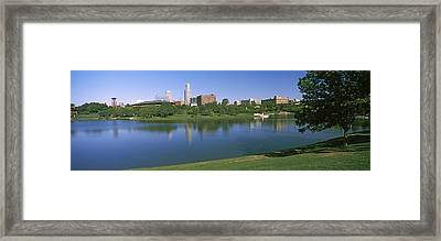 Buildings At The Waterfront, Omaha Framed Print by Panoramic Images