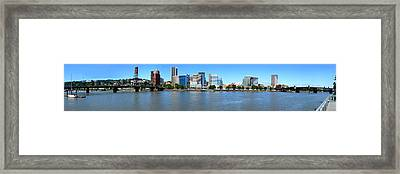 Buildings At The Waterfront, Portland Framed Print by Panoramic Images