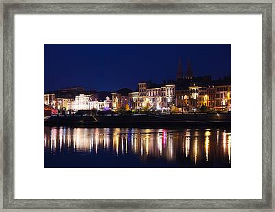 Buildings At The Waterfront, Quai Framed Print by Panoramic Images
