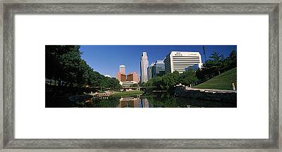 Buildings At The Waterfront, Qwest Framed Print by Panoramic Images