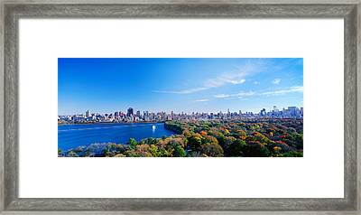 Buildings In A City, Central Park Framed Print by Panoramic Images