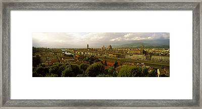 Buildings In A City, Florence, Tuscany Framed Print by Panoramic Images