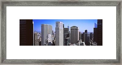 Buildings In A City, Midtown Framed Print