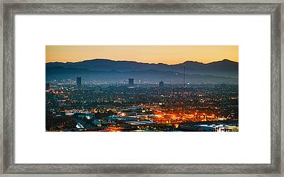 Buildings In A City, Miracle Mile Framed Print