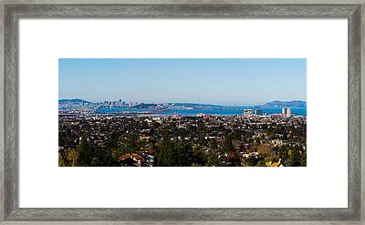 Buildings In A City, Oakland, San Framed Print