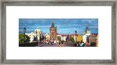 Buildings In A City, Prague, Czech Framed Print by Panoramic Images