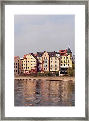 Buildings On The Danube River Framed Print
