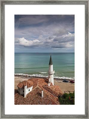 Bulgaria, Black Sea Coast, Balchik Framed Print by Walter Bibikow