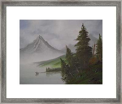Bull Lake Framed Print by Caleb Mitchell