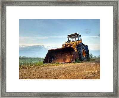 Bulldozer Framed Print by Sinisa Botas