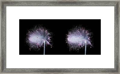 Bullet Hits Pill Framed Print