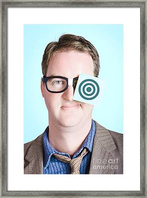 Bullseye Target. Aims And Goals Framed Print by Jorgo Photography - Wall Art Gallery