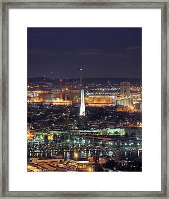 Bunker Hill Monument  Framed Print by Joann Vitali