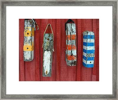 Buoys At Rockport Motif Number One Lobster Shack Maritime Framed Print