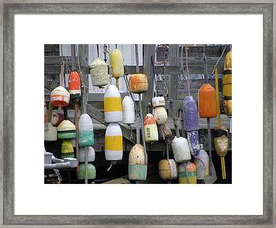 Buoys Framed Print by Jewels Blake Hamrick