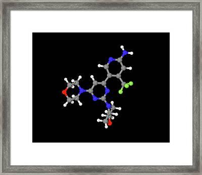 Buparlisib Experimental Drug Molecule Framed Print
