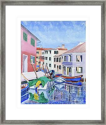 Burano Venice Framed Print