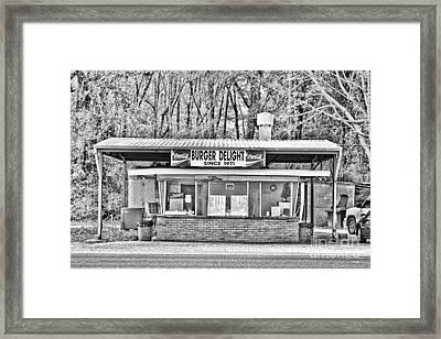 Burger Delight Framed Print