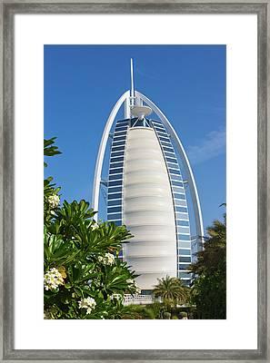 Burj Al Arab Hotel, Dubai, Uae Framed Print by Keren Su