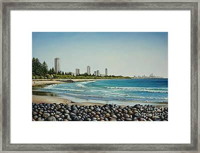 Burleigh Beach 210808 Framed Print by Selena Boron