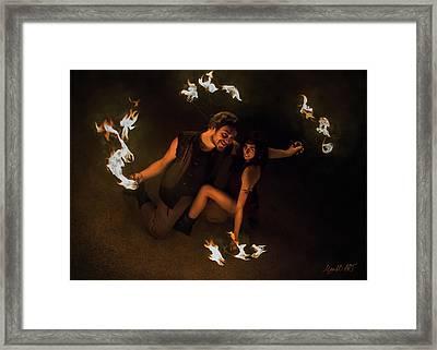 Burning Passion Framed Print