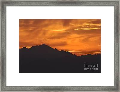 Burning Sky Framed Print by Simona Ghidini