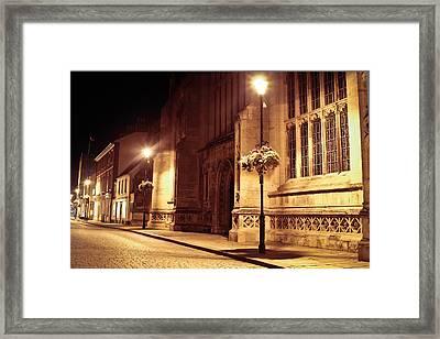 Bury St Edmunds Night Scene Framed Print by Tom Gowanlock