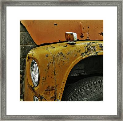 Bus Stop Framed Print by Jerry Cordeiro