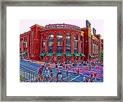 Busch Stadium Framed Print by John Freidenberg
