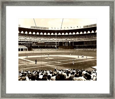 Busch Stadium - St Louis 1966 Framed Print by Mountain Dreams