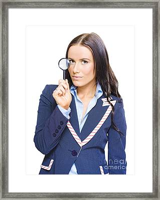 Business Analysis Review And Strategy Examination Framed Print by Jorgo Photography - Wall Art Gallery