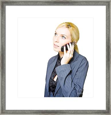 Business Communication Framed Print